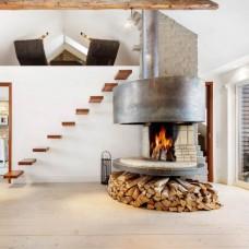 Дымоход (керамика / сталь) для дровяных и пеллетных каминов
