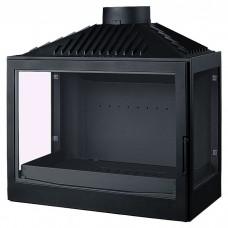Топка L7 RL, два боковых стекла, черная (Liseo)