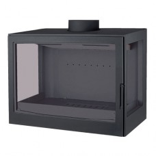 Топка K7 RL, два боковых стекла, черная (Liseo)